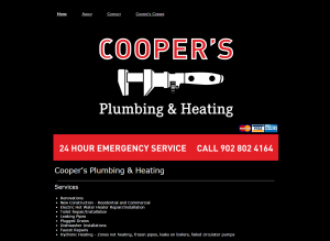Coopers Plumbing Website Example