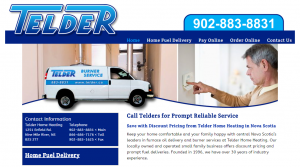 Telder Home Heating Website Example