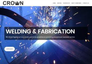 Crown Welding and Fabrication Website Homepage
